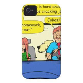 917 Teacher calls homework takeout cartoon iPhone 4 Case-Mate Case