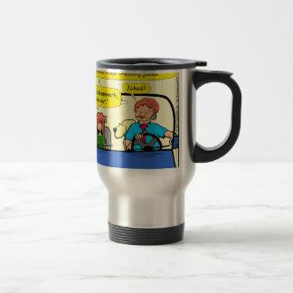 917 Teacher calls homework takeout cartoon Travel Mug