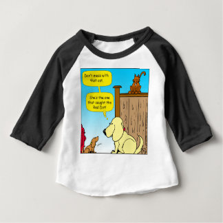 918 The cat that caught the red dot cartoon Baby T-Shirt