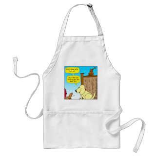 918 The cat that caught the red dot cartoon Standard Apron