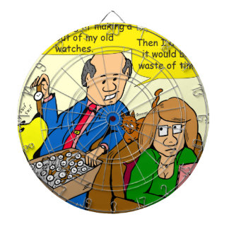 919 belt watch a dad joke cartoon dartboard