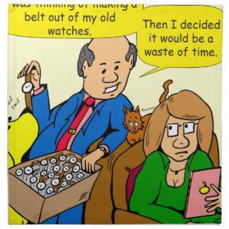 919 belt watch a dad joke cartoon napkin