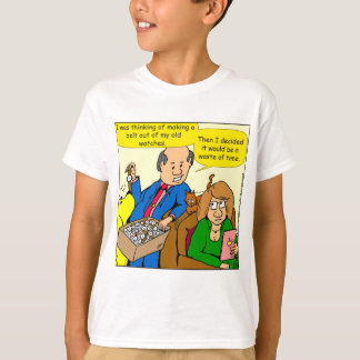 919 belt watch a dad joke cartoon T-Shirt