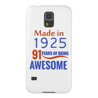 91 birthday design galaxy s5 cover
