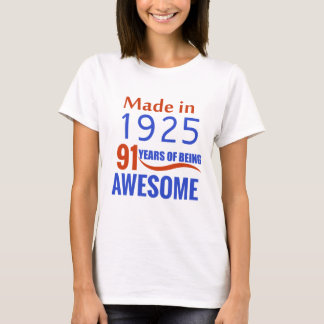 91 birthday design T-Shirt