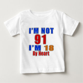 91 Birthday Designs Baby T-Shirt