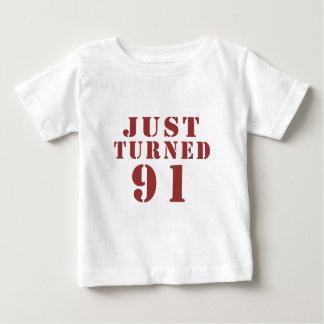 91 Just Turned Birthday Baby T-Shirt