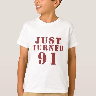 91 Just Turned Birthday T-Shirt