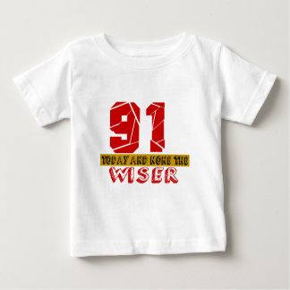91 Today And None The Wiser Baby T-Shirt