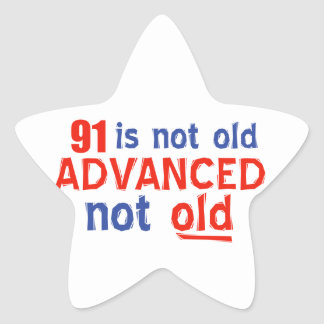 91 year old birthday designs stickers