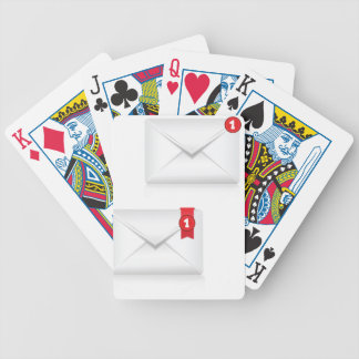 91Mailbox Alert Icon_rasterized Bicycle Playing Cards
