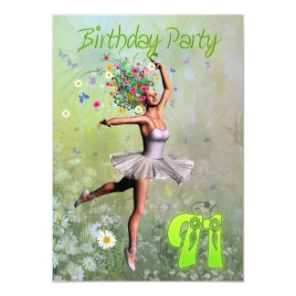 "91st Birthday party invitation 5"" X 7"" Invitation Card"