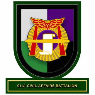 91st Civil Affairs Battalion flash Standing Photo Sculpture