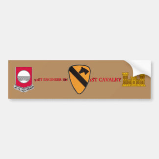 91ST ENGINEER BATTALION 1ST CAVALRY BUMPER STICKER