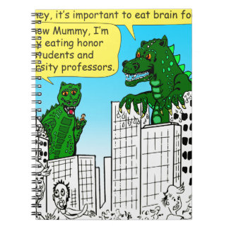 920 Monsters eat honor students for brain food Notebook