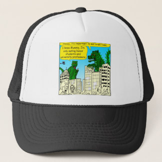 920 Monsters eat honor students for brain food Trucker Hat