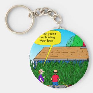 928 overfeeding your lawn cartoon key ring