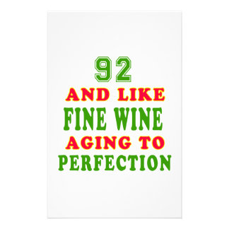 92 and like fine wine birthday designs stationery paper
