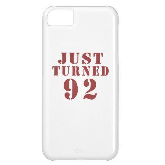 92 Just Turned Birthday iPhone 5C Case