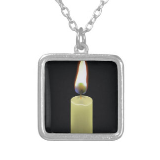 92Candle _rasterized Silver Plated Necklace