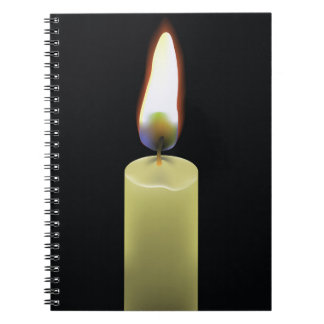 92Candle _rasterized Spiral Notebook