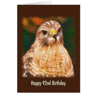 92nd Birthday, Red-shouldered Hawk Card
