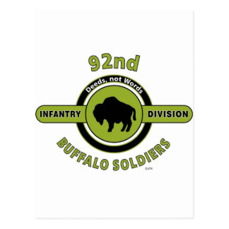 """92ND INFANTRY DIVISION """"BUFFALO SOLDIERS"""" POSTCARD"""