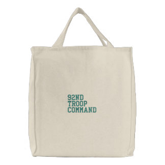 92nd Troop Command Canvas Bag