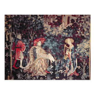 930 The Concert, Tapestry from Arras, 1420 Postcard