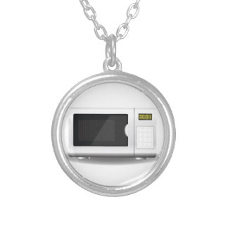 93Microwave_rasterized Silver Plated Necklace