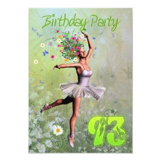 93rd Birthday party invitation