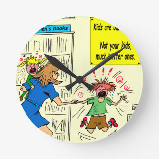 942 kids are our future cartoon round clock