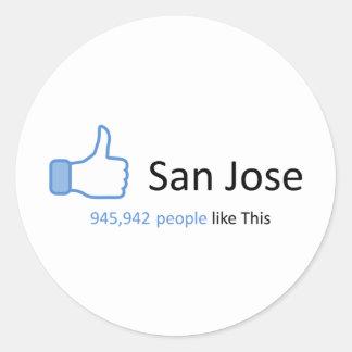 945942 people like San Jose Round Sticker