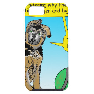 948 Puppy thinks ball getting bigger cartoon Tough iPhone 5 Case