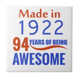 94 birthday design ceramic tile