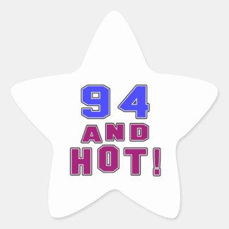94 birthday designs star sticker