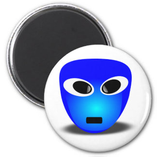 94-Free-3D-Extra-Terrestrial-Smiley-Face-Clipart-I 6 Cm Round Magnet