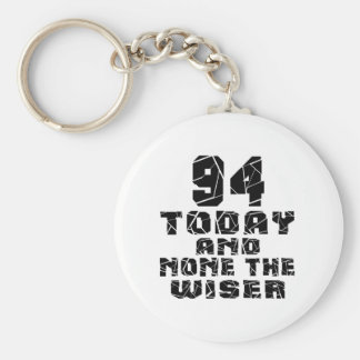 94 Today And None The Wiser Basic Round Button Key Ring