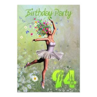 94th Birthday party invitation