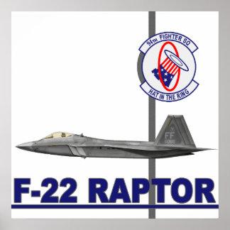 94th Fighter Squadron F-22 Raptor Print