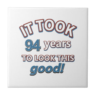 94th year birthday designs tile
