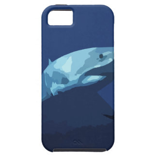 952 DARK BLUE PIXEL GREAT WHITE SHARK SEA CREATURE iPhone 5 COVER