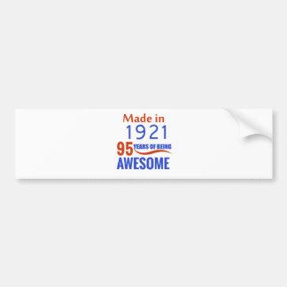 95 birthday design bumper sticker