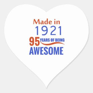 95 birthday design heart sticker