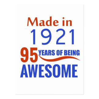 95 birthday design postcard