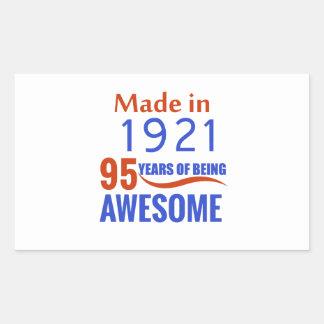 95 birthday design rectangular sticker