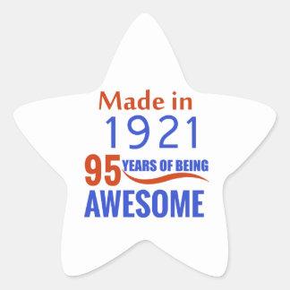 95 birthday design star sticker