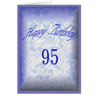 95 years old Happy Birthday Card