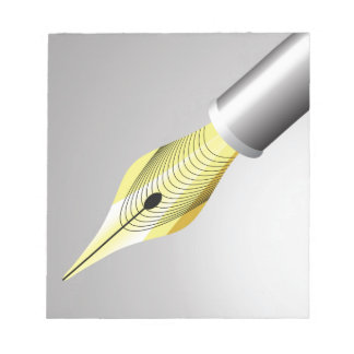 95Shiny Fountain Pen Nib_rasterized Notepad