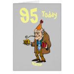 95th 95 today birthday cartoon personalized cards